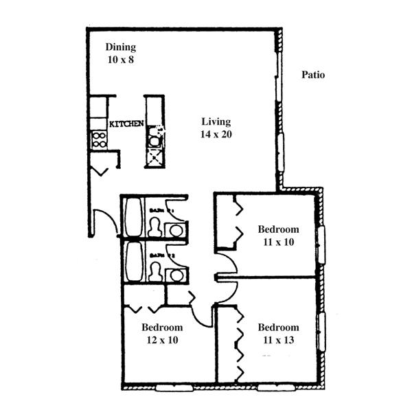 College Park 3 Bedroom - Ranch #2