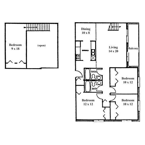 College Park 4 Bedroom - 2 Level Townhouse