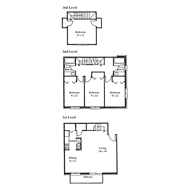 College Park 4 Bedroom - 3 Level Townhouse