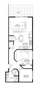 The Monroe 2 Bedroom - Unit A