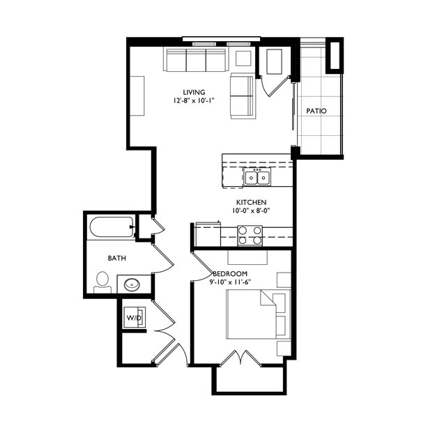 The Monroe 1 Bedroom - Unit D