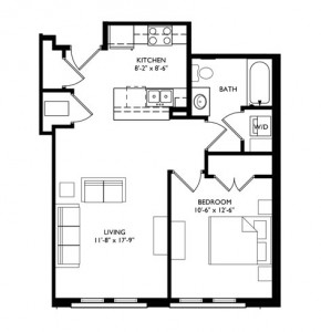 The Monroe 1 Bedroom - Unit F