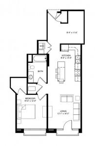 The Monroe 1 Bedroom - Unit H