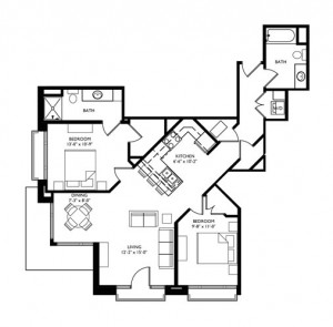 The Monroe 2 Bedroom - Unit J