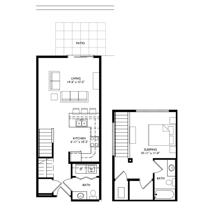 The Monroe 1 Bedroom - Unit L1