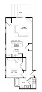 The Monroe 1 Bedroom - Unit M