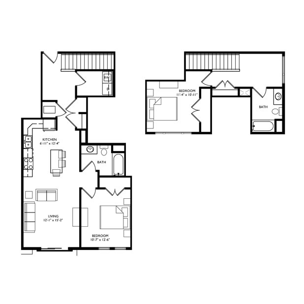 The Monroe 2 Bedroom Townhouse - Unit N