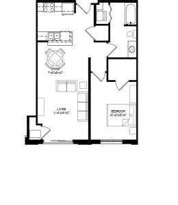 Parman Place 1 Bedroom - Unit Style G