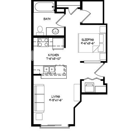 Parman Place Studio - Unit Style I