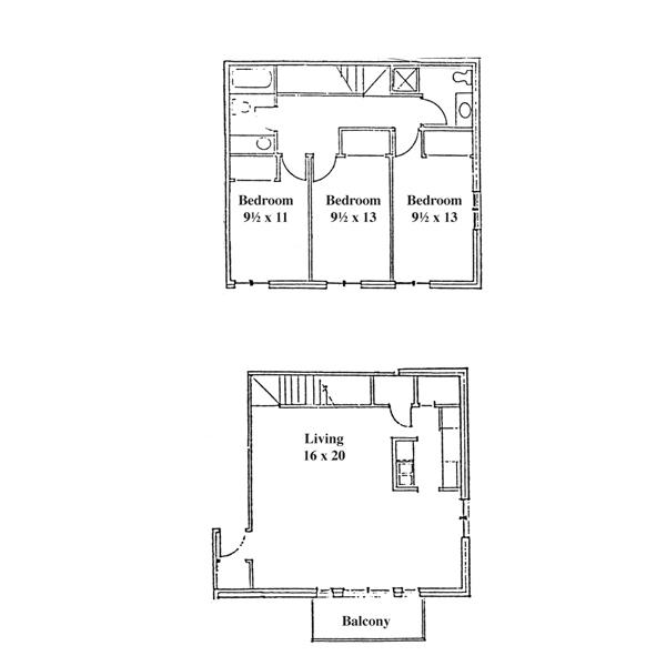 Renee Row 3 Bedroom - 2 Level Townhouse