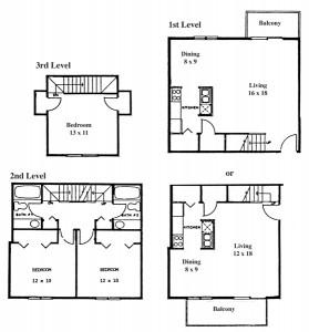 Renee Row 3 Bedroom - 3 Level Townhouse