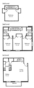 Renee Row 4 Bedroom - 3 Level Townhouse