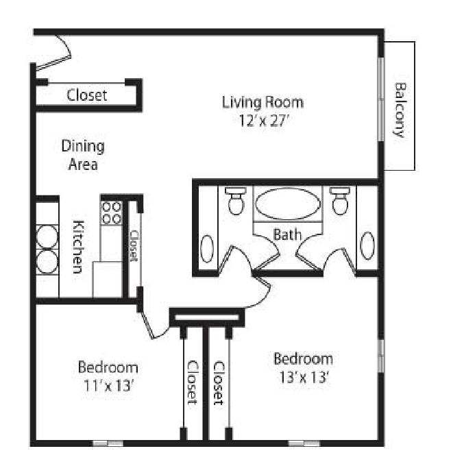 The Sovereign 2 Bedroom - Corner