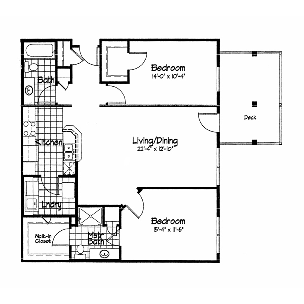 Cortland Pond 2 Bedroom - Unit C