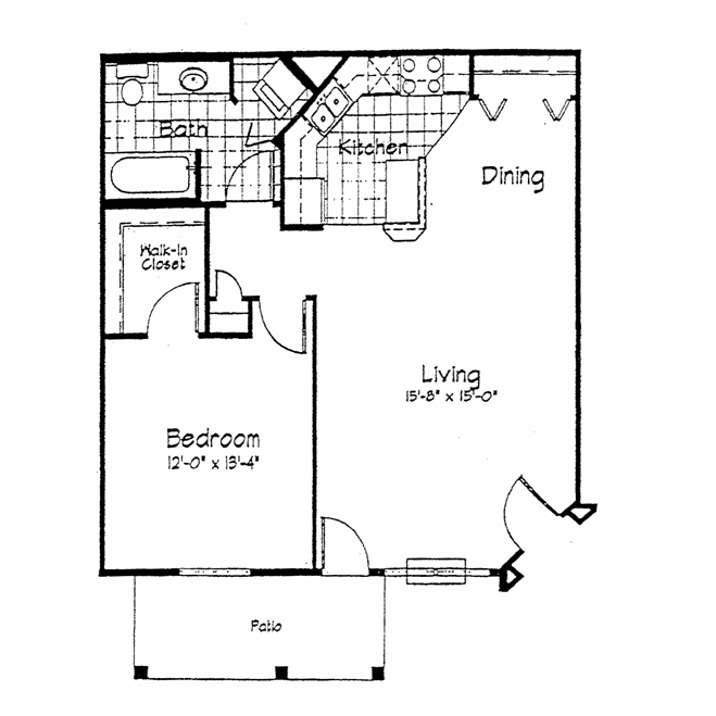 Cortland Pond 1 Bedroom - Unit D