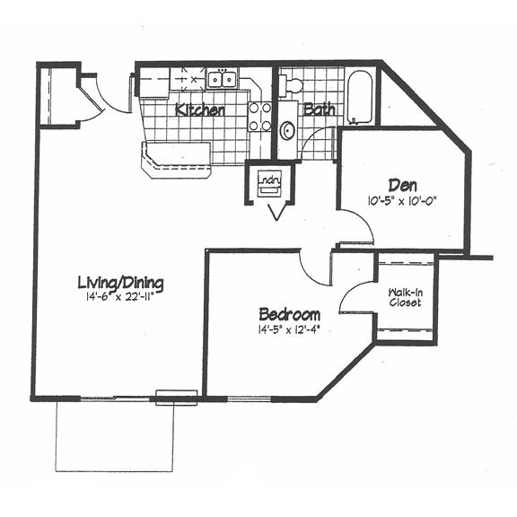 Cortland Pond 1 Bedroom - Unit DD