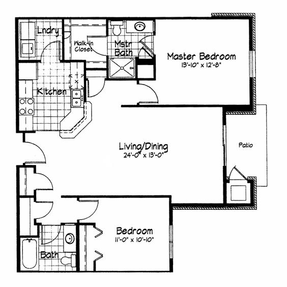 Cortland Pond 2 Bedroom - Unit H