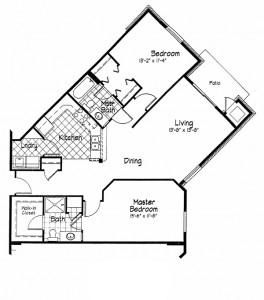 Cortland Pond 2 Bedroom - Unit I