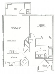 Hawks Landing 1 Bedroom - Unit A