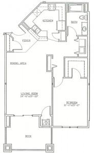 Hawks Landing 1 Bedroom - Unit B