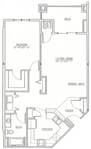 Hawks Landing 1 Bedroom - Unit B2