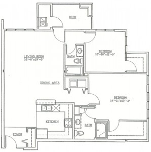 Hawks Landing 2 Bedroom - Unit D