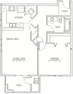 Hawks Landing 1 Bedroom - Unit H