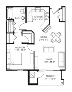 Hawks Landing 1 Bedroom - Building D Unit B