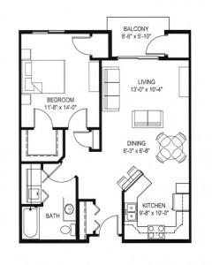 Hawks Landing 1 Bedroom - Building D Unit C
