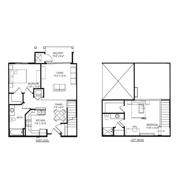 Hawks Landing 2 Bedroom - Building D Unit E Loft