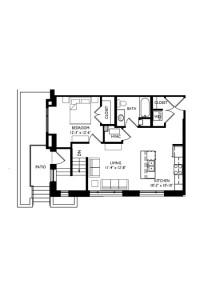 Capitol's Edge Apartments 1 Bedroom - Unit Type A2