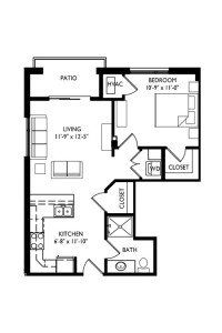 Capitol's Edge Apartments 1 Bedroom - Unit Type E