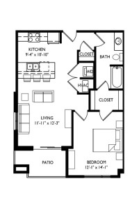 Capitol's Edge Apartments 1 Bedroom - Unit Type F