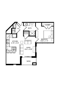 Capitol's Edge Apartments 1 Bedroom - Unit Type H