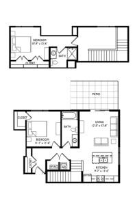 Capitol's Edge Apartments 2 Bedroom Townhouse - Unit Type R
