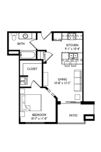 Capitol's Edge Apartments Studio - Unit Type C