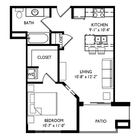 Capitol's Edge Apartments Studio - Unit Type C