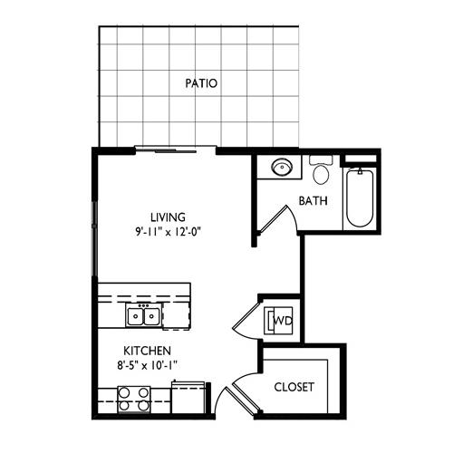 Capitol's Edge Apartments Studio - Unit Type S