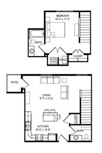 Capitol's Edge Apartments 1 Bedroom - Unit Type L