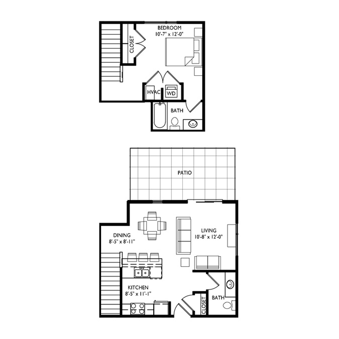 Capitol's Edge Apartments 1 Bedroom - Unit Type N