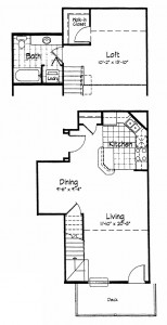 Cortland Pond 1 Bedroom - Unit F2