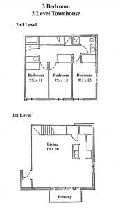 Three Bedroom Two bath Two Level