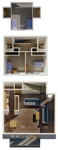 Three Bedroom Three Level Townhouse
